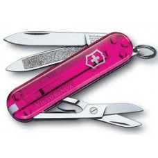 VICTORINOX kapesní nůž CLASSIC růžový průhledný